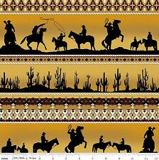 Sundown Cowboy, Desert Horizon Stripe  100% Cotton  Fabric by Riley Blake  FQ