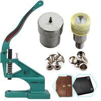 Single Cap Tubular Rivet Install Die Set with Green Machine for DIY Leathercraft