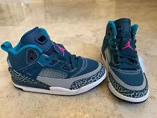 Air Jordan Spizike Toddler Teal Green and Grey Size 10.5