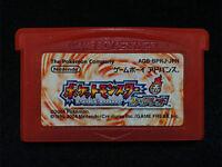 GBA Pokemon Fire Red Japan Gameboy Advance F/S