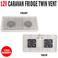 NEW 12V Caravan RV Fridge Vent Twin Fan Dometic Thetford 3 Way Fridges