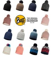 BUFF 100% Acrylic Knitted Thermal Winter Bobble Hat for Skiing/Walking/Fashion