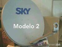 Sky De Mexico Antena Satelital 58W diametro75cm / o para FTA azul, Celeste.