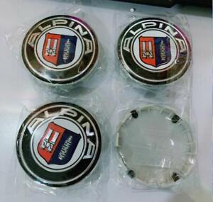 4pcs 68mm For ALPINA Logo Emblem Alloy Wheel Center Caps Hub Caps Rim Center Cap