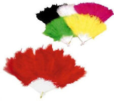 12 PC FEATHER HAND FANS dance costume party supplies hand held ladies purse fan