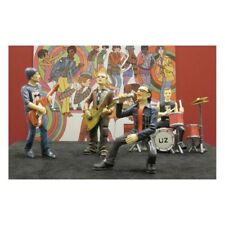 Complete-set-of-U2-miniature-figures.band Polystone .Musikgruppe Figuren U2 Bono