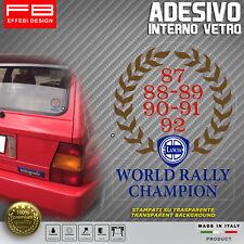 Adesivo Stickers LANCIA World Rally Champion Delta Evoluzione HF Lunotto Epoca