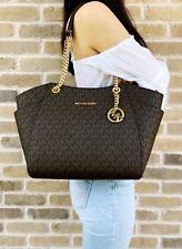 MICHAEL KORS Damen Tasche JET SET TRAVEL LG CHAIN braun acorn PVC Leder 47964ffb61