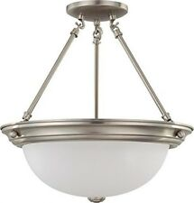 Nuvo 60-3246 - Large Flush Mount Ceiling Light in Brushed Nickel Finish