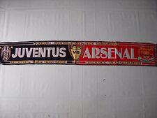 sciarpa ARSENAL - JUVENTUS champions league 2006 football club scarf