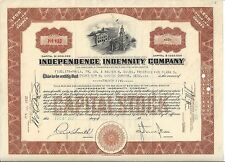 Independence Indemnity Company.1932 Stock Certificate