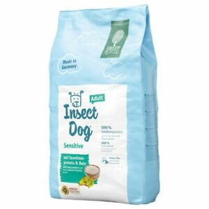 Dry Dog Food Adult Dogs Sensitive Digestible Insect Protein and Rice Vit E and C