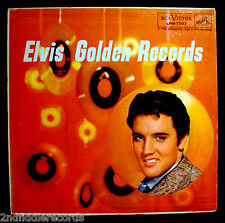 ELVIS PRESLEY-ELVIS' GOLDEN RECORDS-Rare Light Blue Lettering Album Cover-RCA