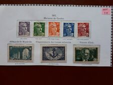 timbres France : Marianne, coloniale, Indy, St-Wan 1954 Y&T n° 883  à 890 **