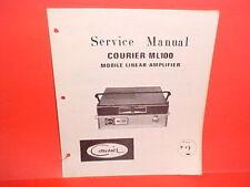 1973 COURIER ML100 CB RADIO MOBILE LINEAR AMPLIFIER ORIGINAL SERVICE MANUAL
