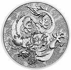 2021 1 Oz Silver $1 Australia DRAGON Myths And Legends Coin.