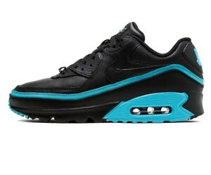 NIKE AIR MAX 90 x UNDEFEATED Trainers - Black Blue Fury - UK Size 7 (EUR 41)