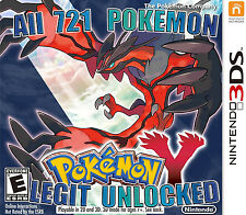 New Legit Unlocked Pokemon Y All 721 Shiny, All Items Max Money and More 3DS 2DS