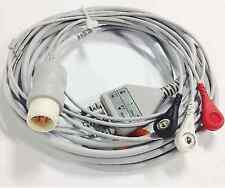 3 Leads Ecg Ekg Cable Compatible Philips Hp M1735a Aha Snap 8 Pins
