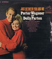 Porter Wagoner and Dolly Parton Just between You and Me LP 33 Country Album VG+