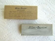 Ka-Bar 1351 Improved No. 1000 Sharpening Stone in Box, 3.5 x 1.25 Inches. Used.