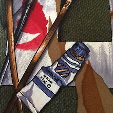 """Paint Artist Supplies Brushes Men's Necktie  100% Silk Made in USA 57"""""""