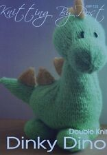 DINKY DINO A5 KNITTING PATTERN  FROM KNITTING BY POST (KBP-123)
