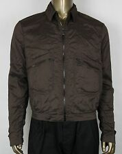 $1750 New Authentic Bottega Veneta Men's Brown Silk Jacket 52 307871 2515