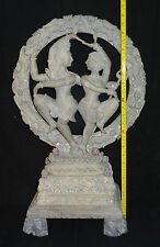 Antique Marble Shiva Natraj Parvarti Hinduism Rare Dancing Figure Decor Gifts