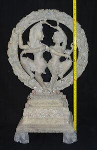 Ancien Marbre Shiva Natraj Parvarti Hindouisme Rare Danse Figurine Décor Cadeaux