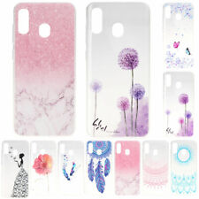 For Samsung A10S A20E A30 A40 A50 Patterned Slim Soft Gel TPU Phone Case Cover