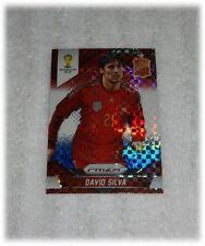 2014 Panini Prizm World Cup Red Blue Plaid David Silva - Spain #175