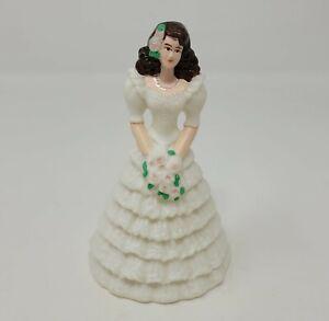 Vintage Brunette Mariée Mariage Gâteau Dessus Figurine Décoration Figurine
