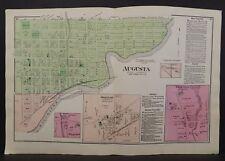 Michigan Kalamazoo County Map Augusta 1873 Dbl Pg  W16#57