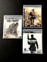 Lot Of 3 Call of Duty Modern Warfare 2 & 3 And Another Sony PlayStation 3 PS3