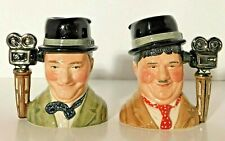 Royal Doulton Laurel & Hardy Pair of Toby Mugs Jugs Ltd. Edition 1995 Mint