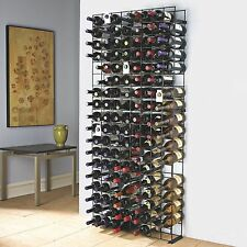 Large Wine Rack 144-Bottle Tie Grid Racks Ample Kitchen Cellar Metal Standing