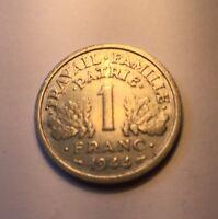 1 Franc francisque Bazor 1944C légère  N3