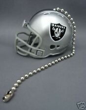 OAKLAND RAIDERS CEILING LIGHT FAN PULL & CHAIN NFL FOOTBALL HELMET