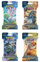 1 x 10-Cards Unbroken Bonds Pokemon Card Sun Moon Blister Booster Pack Sealed