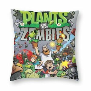 Plants vs Zombies Throw Pillow Cover Sofa Square Cushion Case 16-24''