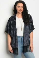 NEW..Stunning Plus Size Cut Out Velvet Cardi Cover Up Kimino..SZ20-22/3XL