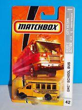 Matchbox 2009 City Action Series #42 GMC School Bus Yellow METRO SCHOOL DISTRICT