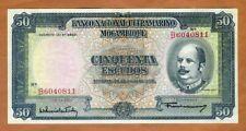 New listing Mozambique, 50 escudos, 1958, P-106, aUnc > Colonial