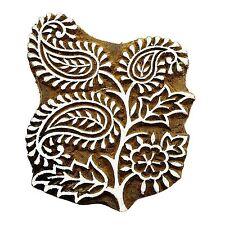 geschnitzt Paisley aus Holz Block Textile Stempel indische Blöcke PB2656A