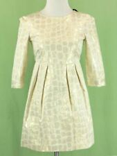 343 NWT Bonpoint girl ivory gold dress Holiday party NEW Size 12