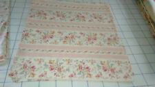 "RALPH LAUREN ""MILLICENT"" PINK FLORALS & STRIPES PAIR OF KING PILLOWCASES"