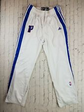NBA Adidas Authentic Detroit Pistons PLAYER Issued #5 Pants White XXL +2