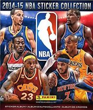 "NBA Basketball 2014-15 NBA Sticker Collection Album. Size 11 X 10""."