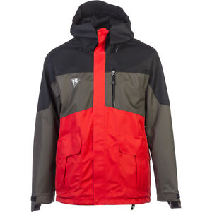 NWT MENS HOMESCHOOL FACTORY PARKA SNOWBOARD JACKET $300 ignition night red